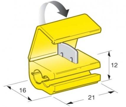 Rychlospojka kabelová 2,5-6mm žlutá - N2
