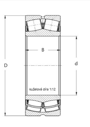 ZKL 22320 EKW33J soudečkové ložisko - N2