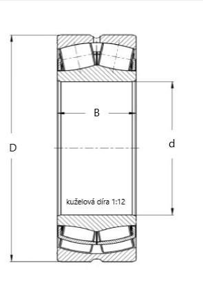 ZKL 23222 CKW33J soudečkové ložisko - N2