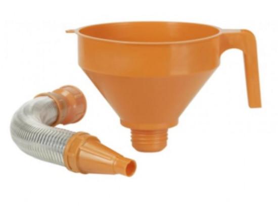 Trychtýř plastový s kovovou trubicí 160 mm - N2
