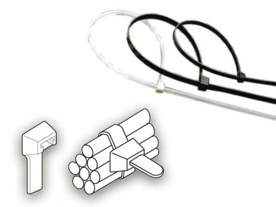 Vázací páska 2,5 x 100 mm - 8 kg - bílá - N2