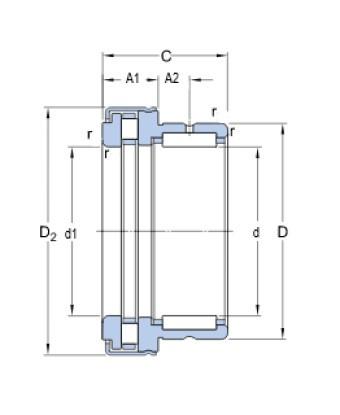 SKF NKXR 20 Z jehlové ložisko kombinované - N2