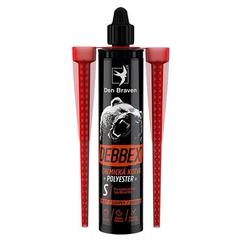 Den Braven Chemická kotva POLYESTER - 300 ml šedá, kartuše _74015BD - N2