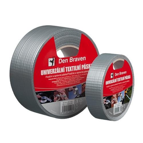 Den Braven Univerzální textilní páska - 50 m x 38 mm stříbrná _B801TE - N2