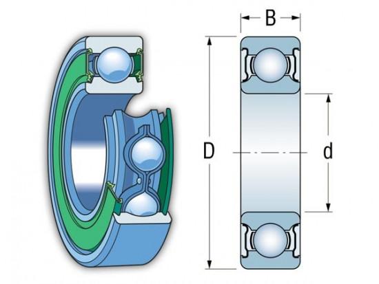 EZO S 6204-2RS nerezové kuličkové ložisko - N2
