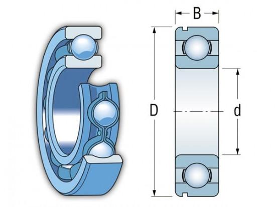 KINEX 6317 N C4 kuličkové ložisko - N2