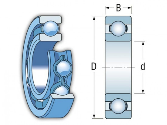 KINEX 6026 C3 kuličkové ložisko - N2