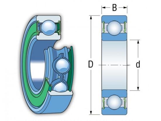 ZEN 62304-2RS kuličkové ložisko - N2