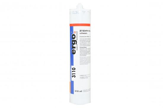 Ergo 3110 - 310 ml RTV silikon černá (MEKO-free) - N2