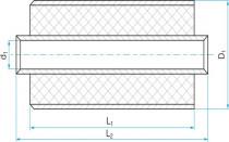 Silentblok válcový - pouzdrová pružina 8,5x26/25(25) bez vnějšího kovu