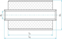 Silentblok válcový - pouzdrová pružina 20x45/60(63)