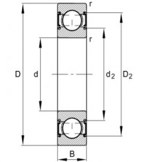 FAG 6202 C-2HRS-C3 (2RSR C3) kuličkové ložisko - N1