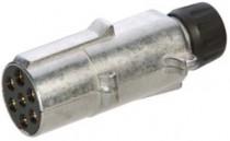 Zástrčka 24V 7P kovová (černá) JEAGER - N1