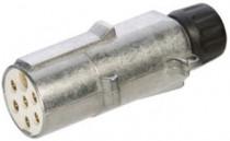 Zástrčka 24V 7P hliníková (1k+6d bílá) přídavná JAEGER - N1