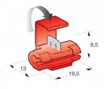 Rychlospojka kabelová 0,5-0,8mm červená - N1