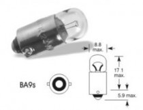 Žárovka Elta 12V 4W BA9s zelená - N1