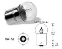 Žárovka Elta 12V 5W BA15s červená - N1