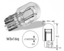 Žárovka Narva 12V 21/5W W3x16q celoskleněná - N1