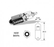 Žárovka Narva 12V 6W BAX9s halogen (H6W) - N1