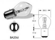 Žárovka Elta 12V 25-25W BA20d