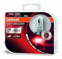 Žárovka Osram 12V H4 BREKER SILVER+100% sada 2ks
