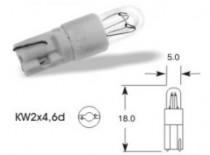 Žárovka Elta 24V 1,2W KW2x4,6d plast