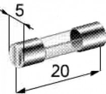 Pojistka skleněná malá 20A 5x20mm - N1