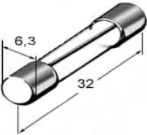 Pojistka skleněná 2A 6,3x32mm - N1