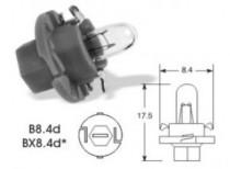 Žárovka Narva 12V 2W BX8,4d světle zelená patice - N1