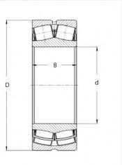 Ložisko 22212 EW33J C3  ZKL