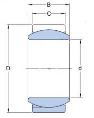 Kloubové ložisko ocel/ocel GE 8 E  SKF