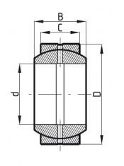 Kloubové ložisko ocel/ocel GE 17ES MTM