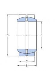 Kloubové ložisko ocel/ocel GE 17 ES  SKF