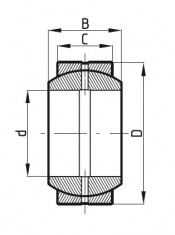 Kloubové ložisko ocel/ocel GE 45E CODEX