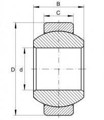 Kloubové ložisko ocel/ocel GEH 12 E  CODEX