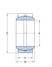Kloubové ložisko ocel/ocel GE 60 ES  SKF