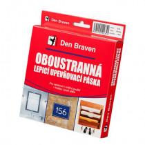 Den Braven Oboustranně lepicí upevňovací páska v krabičce - 19 x 1 mm x 5 m bílá
