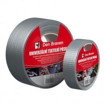 Den Braven Univerzální textilní páska - 50 m x 50 mm stříbrná