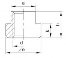 Matice do T drážky DIN 508 |10| M36x42 - N1