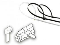 Vázací páska 2,5 x 120 mm - 8 kg - bílá - N1