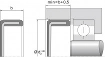 Těsnící víčko VER01 NBR 30x6  Dichtomatik - N1