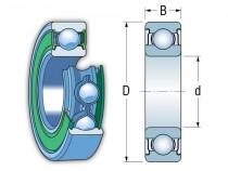 KINEX 6010-2RSR C3 kuličkové ložisko - N1