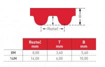 Řemen ozubený 1264 8M Gates Powergrip GTX rukáv - N1