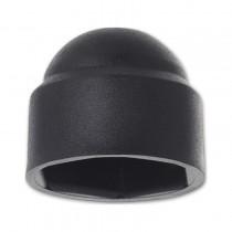 Krytka klobouková pro šestihran M4 PVC černá s=7 mm - N1