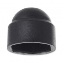 Krytka klobouková pro šestihran M6 PVC černá s=10 mm - N1