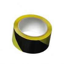 Den Braven Lepicí páska výstražná - 66 m x 50 mm černo-žlutá, levá _B715RL