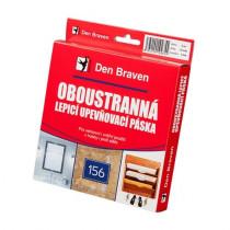Den Braven Oboustranně lepicí upevňovací páska v krabičce - 25 x 1 mm x 5 m bílá _B5322RL - N1