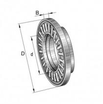 INA AXW 17 axiální jehlová klec s nákružkem - N1