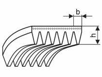 Řemen víceklínový 8 PL 2921 (1150-L) Megadyne Poly-V