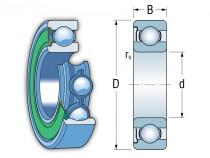 NKE 6306 RSR-C3 kuličkové ložisko - N1
